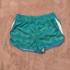 Blue athletic shorts